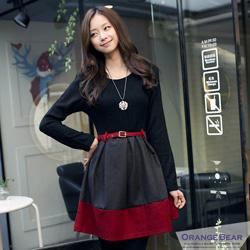 嚴選韓版層次撞色感連身洋裝