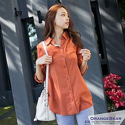 0315新品 注目LOOK~可調袖長版修身棉質襯衫