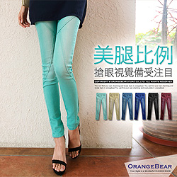 美腿比例~嚴選立體剪裁刷白丹寧窄管褲‧6色