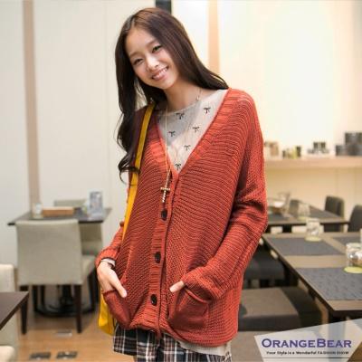 隨性韓系~寬鬆感嚴選粗針織罩衫外套‧6色