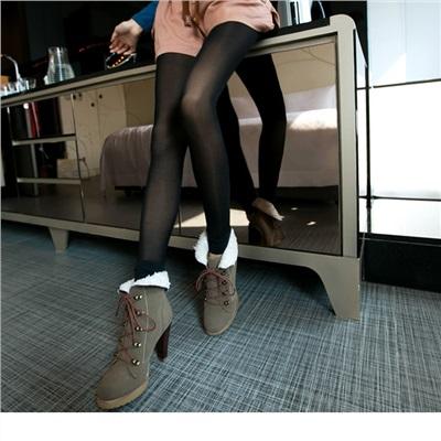 【特價款】 極度保暖~塑身效果內刷毛假透膚內搭九分厚褲襪