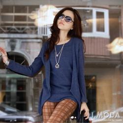 【微冬新品♥特惠99up】假兩件層次設計雙面刷毛長版上衣.3色