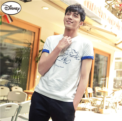 0514新品 迪士尼純棉系列~手繪奔跑米奇T恤‧男2色