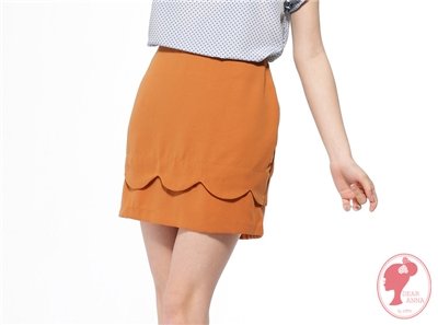 【春氛特賣】成熟魅力~氣質圓弧波浪層次花苞短裙‧3色