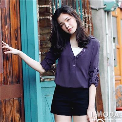 【春夏斷碼♥2件59折】簡約格調~開襟領型七分反折袖長版上衣.3色