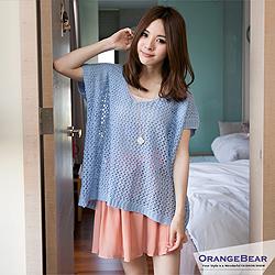 Lovely~圓領短袖甜蜜粉嫩色嚴選針織上衣.3色
