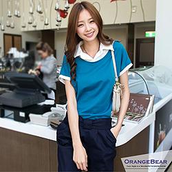 0902新品 甜美輕鬆~拼接緹花簡約連帽外套.4色