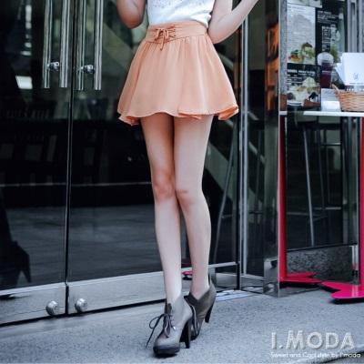 【春夏斷碼♥2件59折】美人甜心~交叉綁帶造型雪紡褲裙‧2色