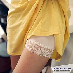 1007新品【特價款】百搭小品~高透氣舒適蕾絲花邊短褲/安全褲.2色