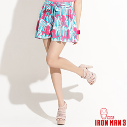 【迪士尼‧繽紛仲夏】鋼鐵人活潑印花綁帶褲裙‧女3色