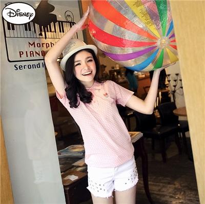 【迪士尼♥2件6折】迪士尼網眼POLO系列~米妮圓點POLO衫‧女3色