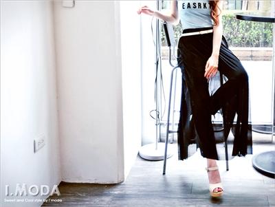 【瘋狂下殺!任選$149】輕透網紗拼接假兩件式造型褲裙