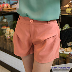 【顯瘦必備‧下著均一價】俐落剪裁打摺造型口袋寬擺短褲‧3色