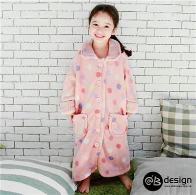 極親膚舒眠保暖系列~柔膚舒眠珊瑚絨睡衣/睡袍•童3色
