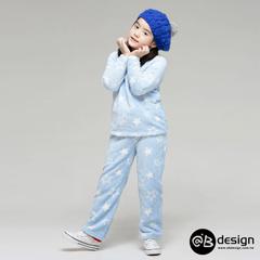 1013新品 極親膚舒眠保暖系列~彩漾輕甜珊瑚絨居家套裝‧童4色