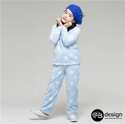 【可愛童裝♥單件8折】 極親膚舒眠保暖系列~彩漾輕甜珊瑚絨居家套裝‧童4色