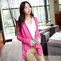 0528新品 淑女氣質~自然垂墜感開襟羅紋棉質外套‧8色