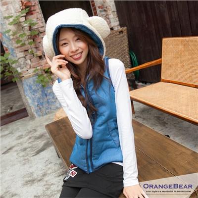 0306新品 Chic Bear~熊造型嚴選鋪棉連帽背心.2色