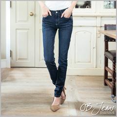 0225新品 美腿宣言~嚴選韓版小碎花拼布刷色抓皺牛仔褲