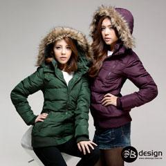 90%高填充含絨量羽絨服~中性帥氣羽絨外套‧女4色