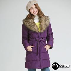 1013新品 90%高填充含絨量羽絨服~華麗毛領羽絨外套‧女4色