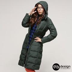 1013新品 90%高填充含絨量羽絨服~時尚超長版羽絨外套‧女5色