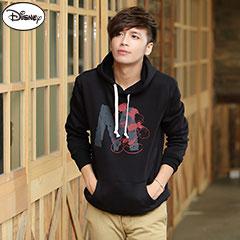 【歡樂加倍.迪士尼】 迪士尼厚刷毛系列~大M字母米奇連帽T恤‧男3色-促