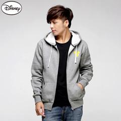 1013新品 迪士尼厚刷毛系列~背面微笑米奇連帽外套‧男3色-aw