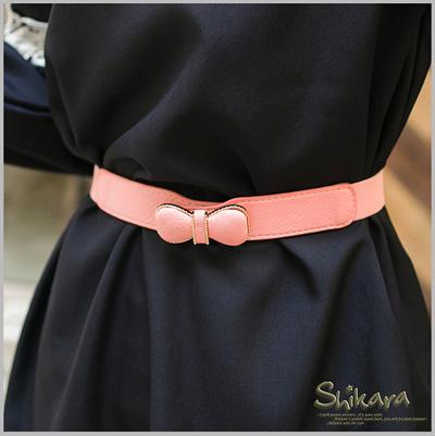 【特價款】甜美傾心~立體蝴蝶結裝飾彈性鬆緊造型腰帶‧3色