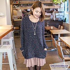 1022新品 迷人女孩~彩色點點菱格紋嚴選韓版連身洋裝.2色