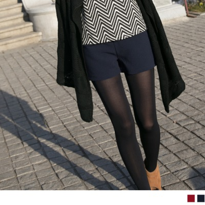 淑女典範~蝴蝶結裝飾弧擺拼接造型短褲•2色