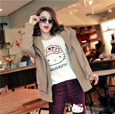 【迷人KITTY♥單件8折】HELLOKITTY柔軟快乾棉~戴帽棒球T恤‧女3色