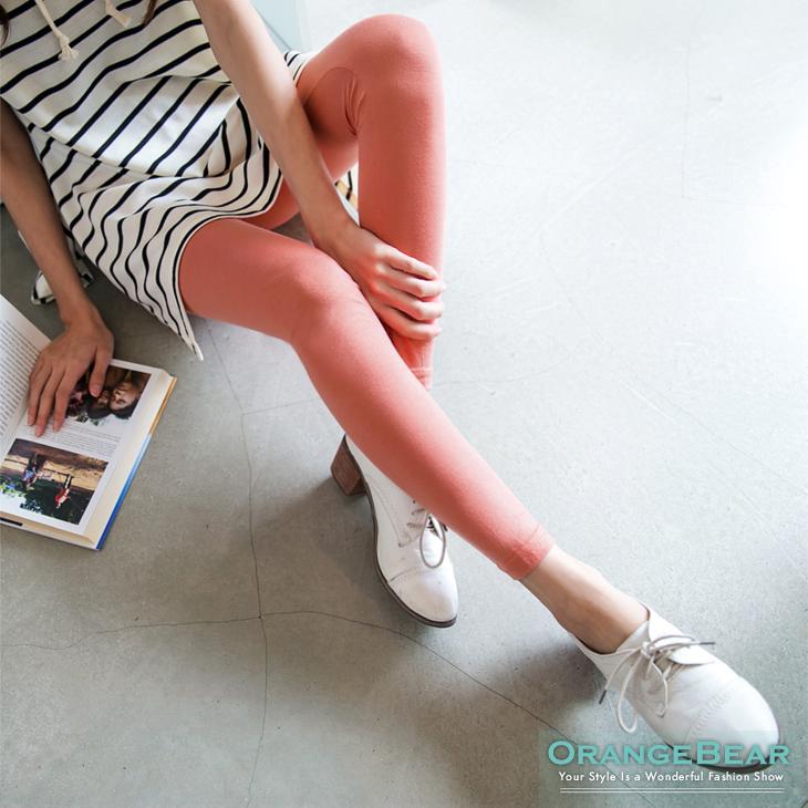 0401新品 人氣話題~韓系繽紛撞色腰圍內搭褲?8色