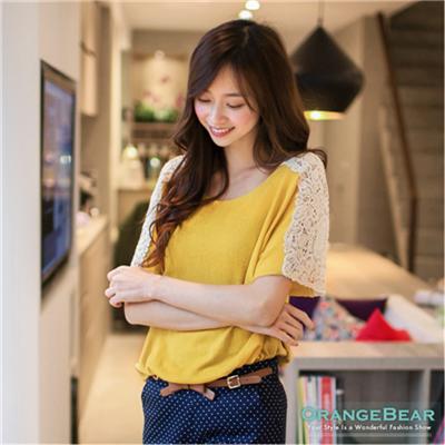 0422新品 輕質感女孩~鏤空織紋肩袖長版嚴選針織上衣.4色