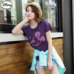 【迪士尼‧繽紛仲夏】純棉/情侶款系列~創意字母米奇頭像T恤‧女3色