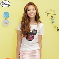 【迪士尼‧繽紛仲夏】純棉情侶系列~米奇創意唱片頭像T恤‧女3色