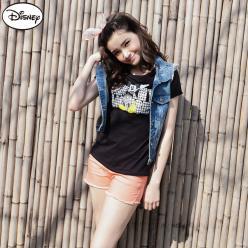 【迪士尼‧繽紛仲夏】純棉/情侶款系列~千鳥格字母米奇T恤‧女3色
