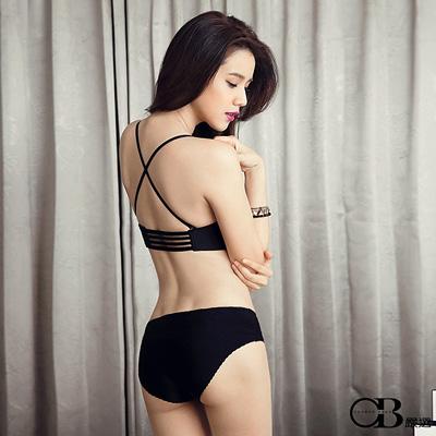 0425新品 性感美姬~交叉美背1/2、3/4罩無痕內衣組‧4色