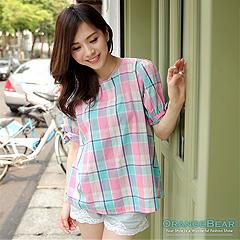 0829新品 微小性感~垂領側皺褶造型長版棉質上衣.5色