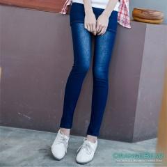 0702新品 引爆話題~嚴選韓版假兩件丹寧窄管褲裙‧3色