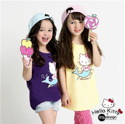 0616新品 KITTY柔軟快乾棉~童話系列小美人魚T‧童3色