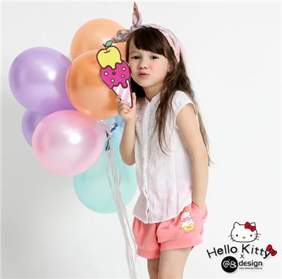 0616新品 KITTY網眼快乾布~甜點系列冰淇淋泡泡短褲•童3色