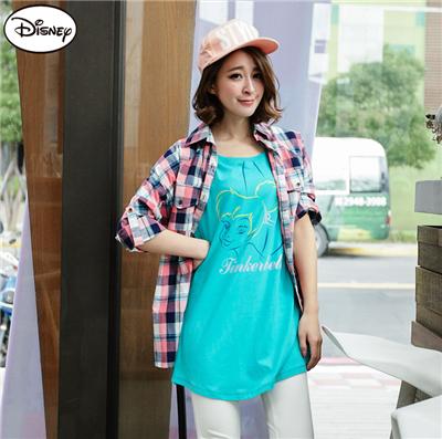 0514新品 迪士尼純棉系列~美式風格小精靈寬鬆長版T恤‧女3色