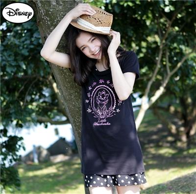0429新品 迪士尼純棉系列~小花朵邊框瑪莉貓長版T恤‧女3色