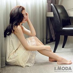 1002新品 柔漾花語~浪漫蕾絲緹花細肩長版襯裙/洋裝‧2色
