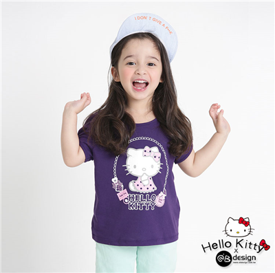 0415新品 KITTY柔軟快乾棉~甜點系列圓點餅乾T恤‧童3色