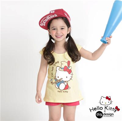 0616新品 KITTY柔軟快乾棉~童話系列小木偶T恤‧童3色