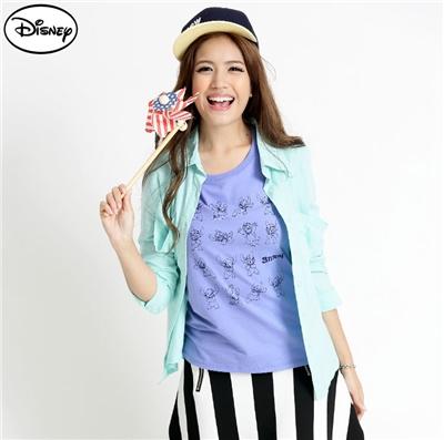 0429新品 迪士尼純棉系列~調皮多變表情小史迪奇T恤‧女3色