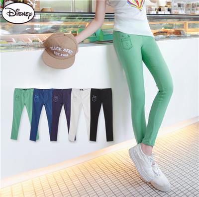 迪士尼特彈系列~米奇掉口袋九分顯瘦窄管褲‧5色