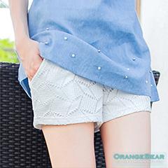 1015新品 時尚品味~滿版幾何圖形花紋造型短褲‧3色